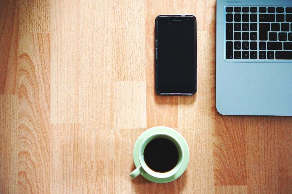 office, phone, coffee